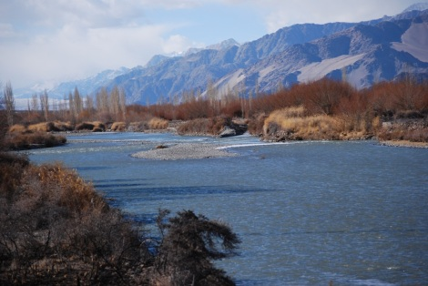 the indus from the bridge