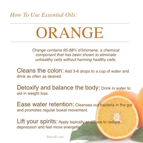 How to use orange essential oil