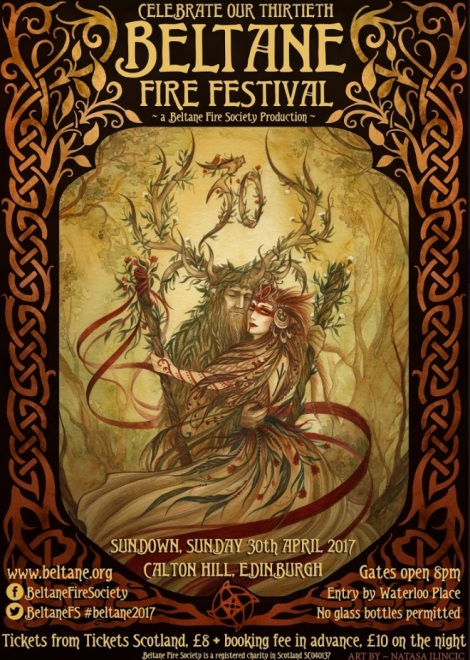 Beltane 2017 Poster by Natasa Ilincic