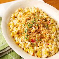 Skillet Scallop Corn