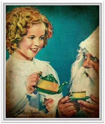 1937 Look Shirley Temple Santa tea