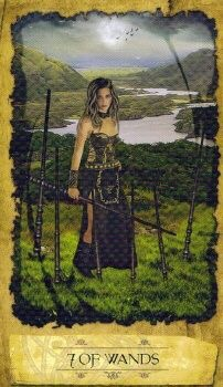 Card of the Day – 7 of Wands – Tuesday, December 12, 2017 — Tarot by Cecelia