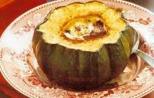 Whole acorn squash soup