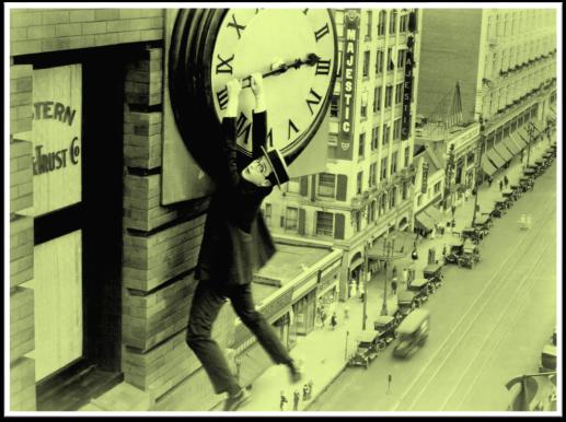 1923 Harold Lloyd Safety Last clock