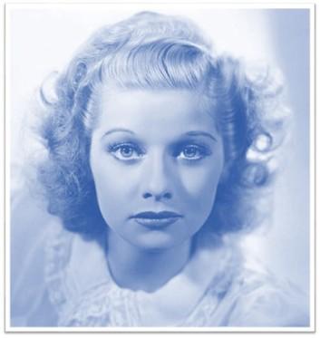 Lucille Ball teen blue