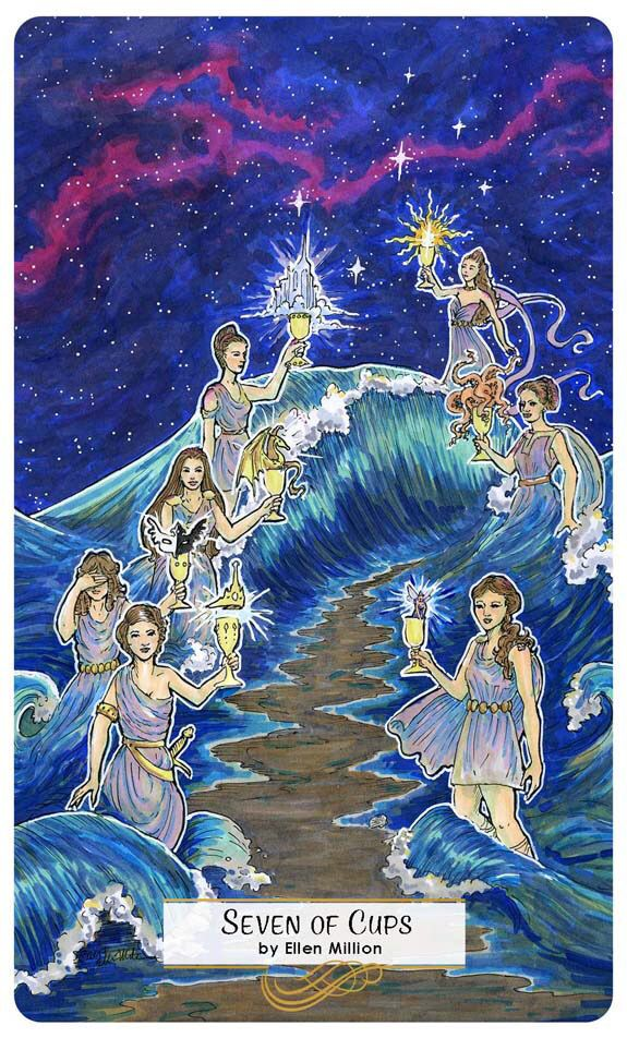 Card of the Day – 7 of Cups – Saturday, March 17, 2018 — Tarot by Cecelia