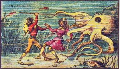 Sea Monster man woman Jean-Marc Côté 1900