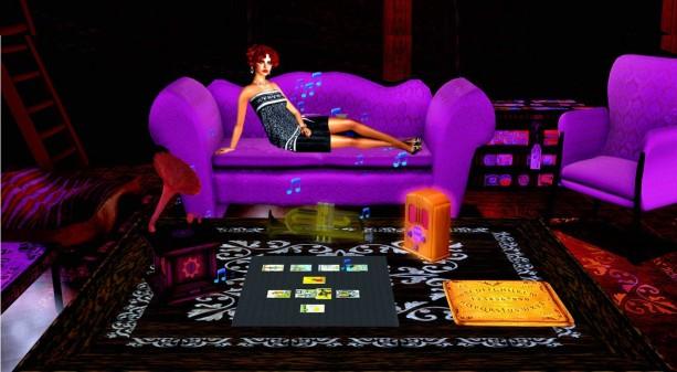 Lulu purple sofa