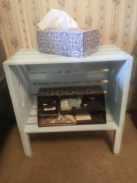 side table from wood crates