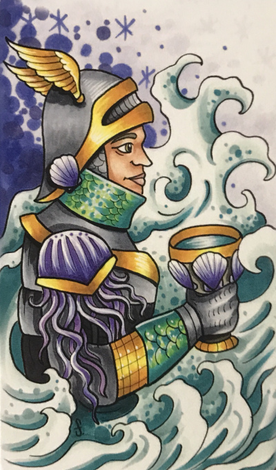 Card of the Day – Monday, November 19, 2018 – Knight of Cups — Tarot by Cecelia