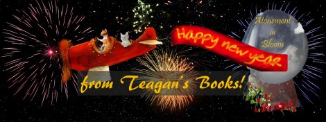 happy new year Teagans Books cats plane