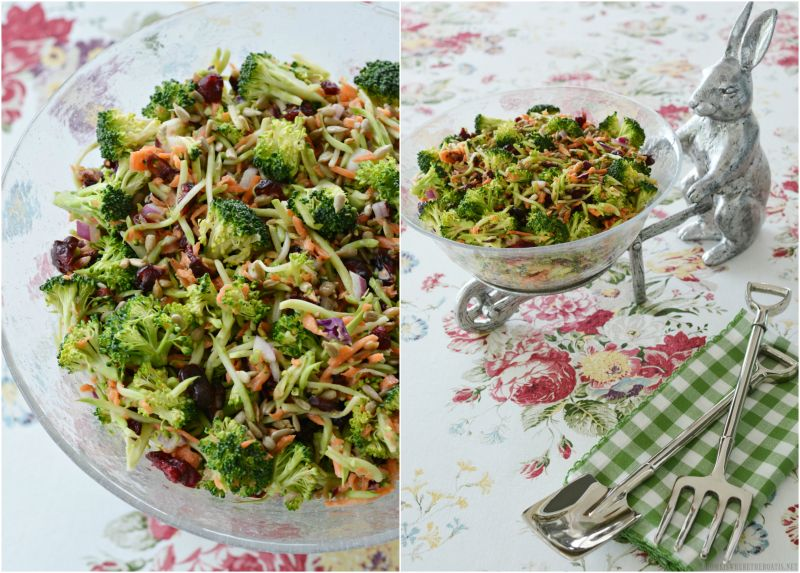 Potluck Sweet and Crunchy Broccoli Salad — Home is Where the Boat Is