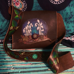 """My """"ritual in a bag"""" crane bag, designed and created by me!"""