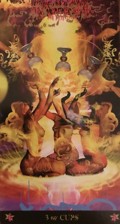 Card of the Day – 3 of Cups – Wednesday, June 26, 2019 — Tarot by Cecelia