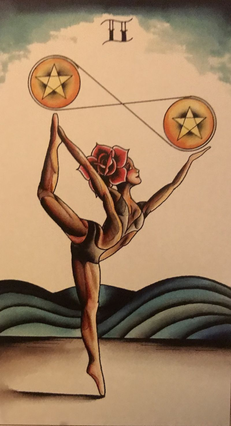 Card of the Day – 2 of Pentacles – Monday, June 24, 2019 — Tarot by Cecelia
