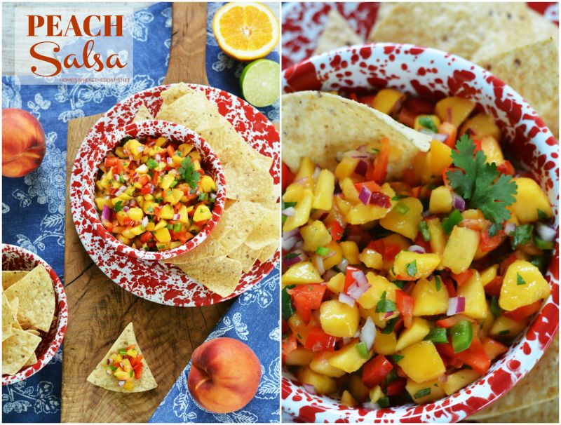 Easy Summer Appetizer: Refreshing Peach Salsa — Home is Where the Boat Is