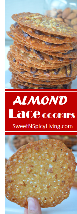Easy Almond Lace Cookies —