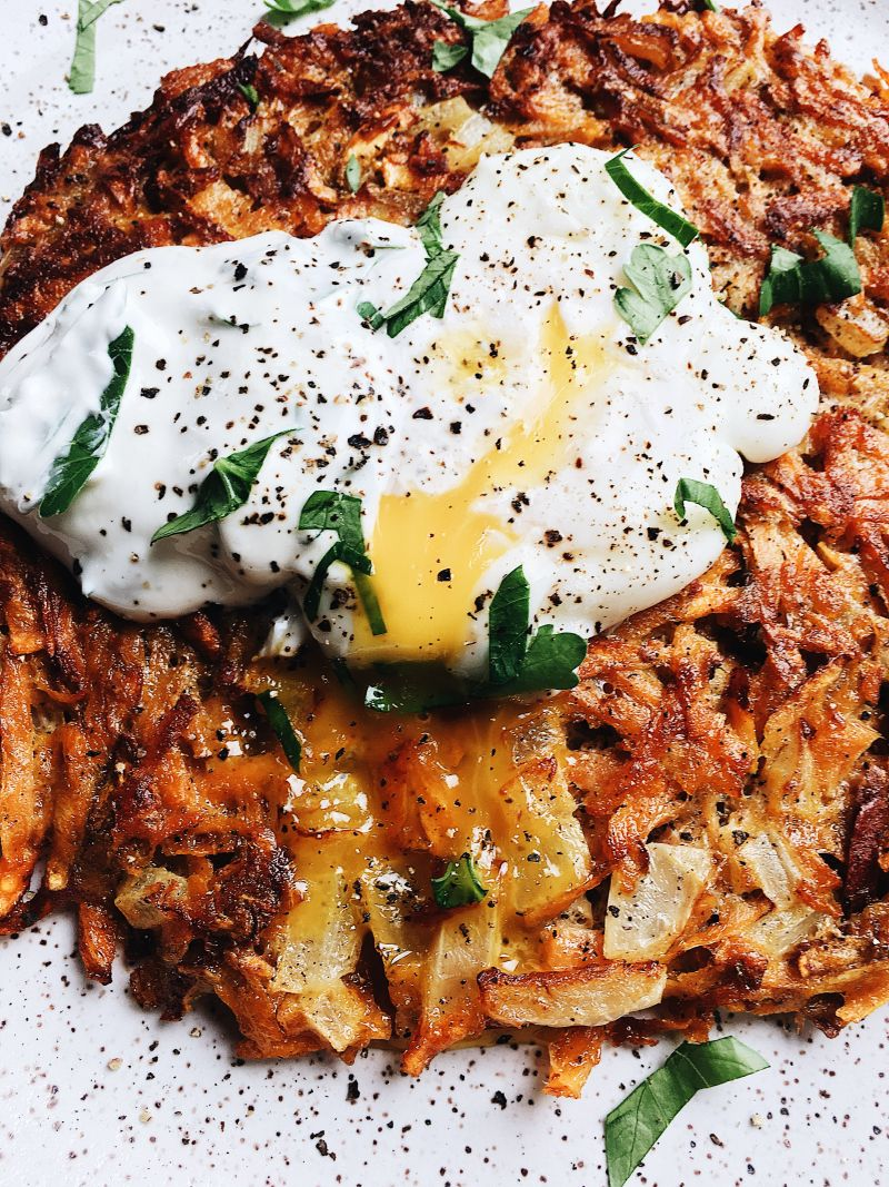 Giant Sweet Potato Latke & Wasabi Sour Cream — The Kitchenologist©