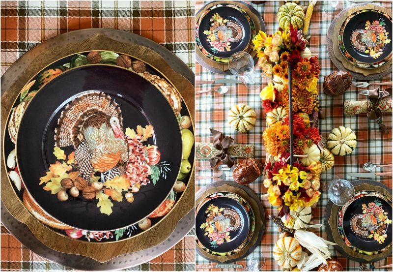 A Harvest of Blooms + Harvest Pumpkin Turkey Tablescape — Home is Where the Boat Is