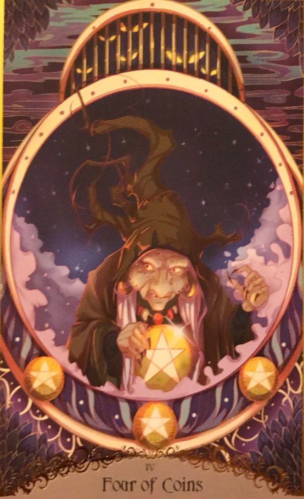 Card of the Day – 4 of Pentacles – Thursday, November 14, 2019 — Tarot by Cecelia