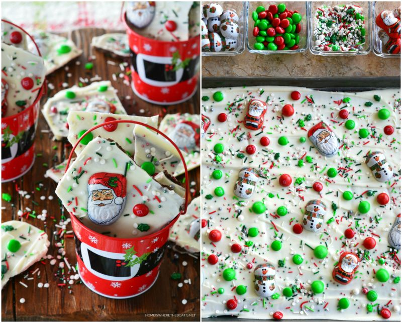 Easy Christmas Santa and Snowman Bark — Home is Where the Boat Is