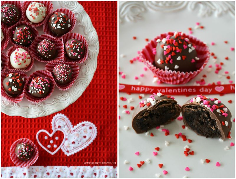 Brownie Truffles for Valentine's Day — Home is Where the Boat Is