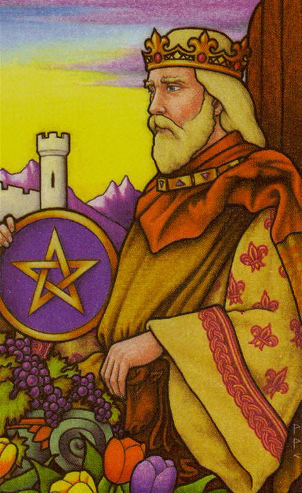 Tarot for Today – King of Pentacles – Tuesday, March 31, 2020 – Tarot by Lady Dyanna — Ravenhawks' Magickal Mystical Places