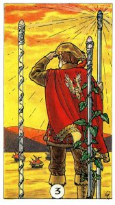 Tarot for Today -3 of Wands - Wednesday, April 15, 2020 - Tarot by Lady Dyanna