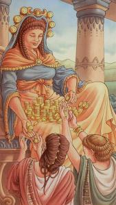 Tarot for Today -6 of Pentacles - Thursday, April 23, 2020 - Tarot by Lady Dyanna