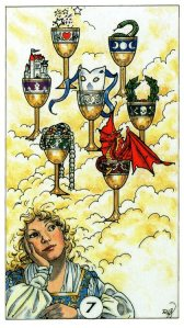 Tarot for Today -7 of Cups - Friday, April 17, 2020 - Tarot by Lady Dyanna