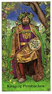 Tarot for Today -King of Pentacles - Sunday, April 19, 2020 - Tarot by Lady Dyanna