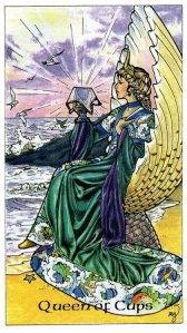 Tarot for Today -Queen of Cups - Thursday, April 16, 2020 - Tarot by Lady Dyanna