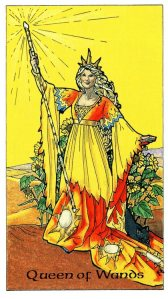 Tarot for Today -Queen of Wands - Monday, April 20, 2020 - Tarot by Lady Dyanna