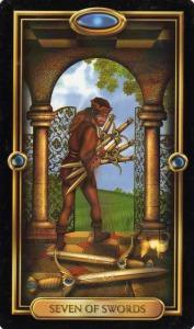 Tarot for Today - 7 of Swords - Sunday, May 10, 2020 - Tarot by Lady Dyanna