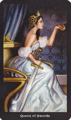 Tarot for Today – Queen of Swords – Monday, August 3, 2020 – Tarot by Lady Dyanna