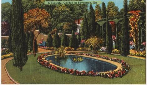 Vintage postcard of Savannah, GA