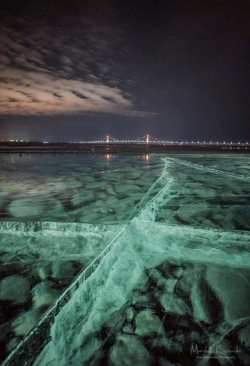 Frozen Lake Michigan & the Mighty Mac — Michigan in Pictures