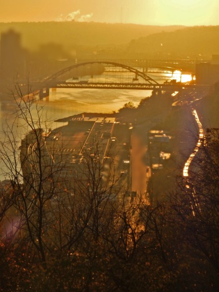 Foggy River Bridge by Dan Antion 2016 (Image altered)