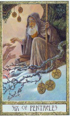 Tarot Guidance for Thursday 5 August 2021: 6 of Pentacles —